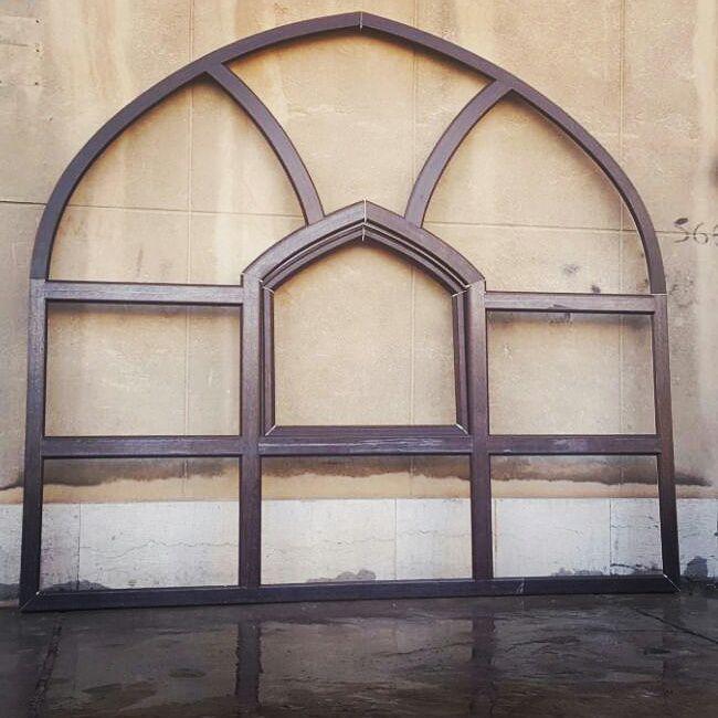 نمونه پنجره طرح مسجدی لمینیت